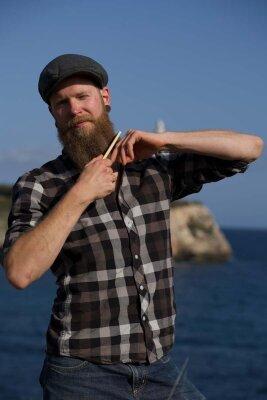 Kapitän Ohlsens Bartkamm - verführerische Bartpflege - handgemacht und edel - Bartkamm aus Holz, handgemacht, regional, nachhaltige Kosmetik