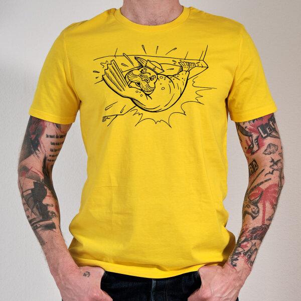 Beard Care ECO T-Shirt yellow